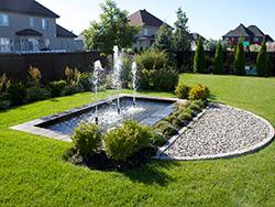 fontaine paysagiste bassin d'eau