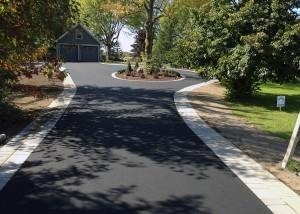 pose asphalte grande entrée garage