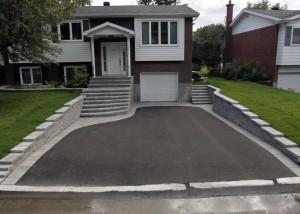 aménagement pose asphalte garage