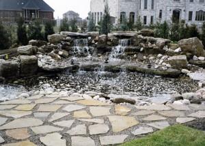 fontaine aménagement paysager
