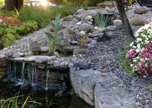 fontaine-chute d'eau terrassement-paysagiste