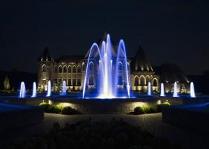 fontaine nuit éclairé eau rive-sud