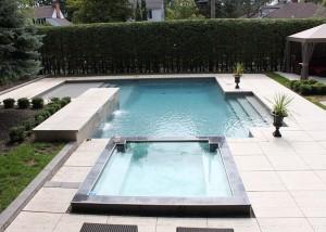 pavés unis piscine rive-sud Terrassement euro
