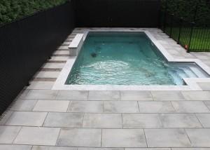 terrassement pavés unis piscine rive-sud