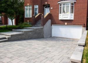 Terrassement-euro-unistone-garage Landscape